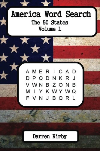 America Word Search: The 50 States: Volume 1