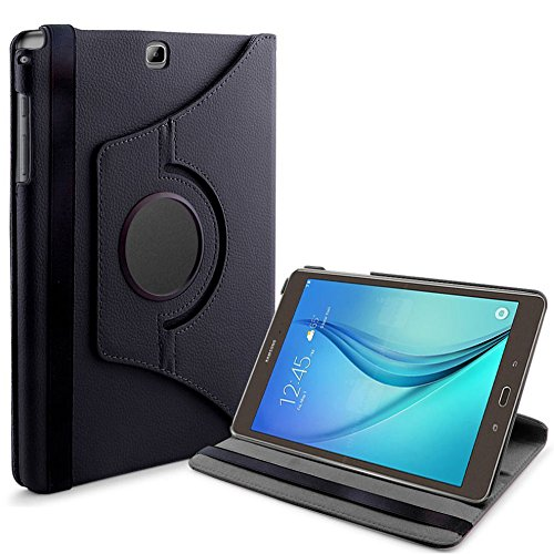 Tasche für Samsung Galaxy Tab A SM-T550 T551 T555 9.7 Zoll Schutz Hülle Flip Tablet Cover Case (Schwarz) NEU