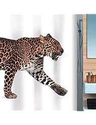 D G F Cortinas de ducha de poliéster Creative Baño impermeable Anti-niebla Cheetah ducha cortina 180 cm * 200 cm