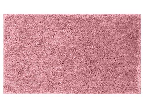 npluseins die extra Streicheleinheit für Ihre Füße in Markenqualität - Mikrofaser Badteppich - erhältlich in 13 modernen Farben und 6 verschiedenen Größen -, Altrosa, 70 x 120 cm