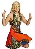 Hippie-Kleid in bunt | Größe 38 | Hippi-Kostüm für Damen (38)