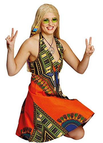 Hippie-Kleid in bunt   Größe 46   Hippi-Kostüm für Damen (Peru Un Kostüm)