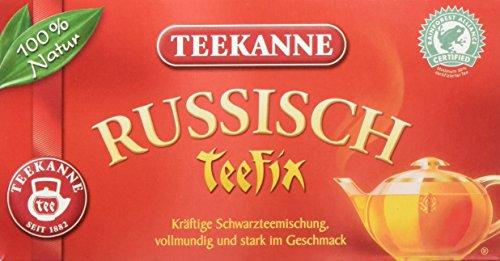 Teekanne Russisch Teefix Schwarztee 20 Beutel, 6er Pack (6 x 40 g)