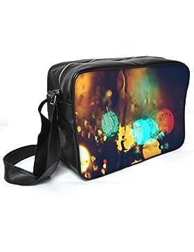Snoogg Regen Lichter Leder Unisex Messenger Bag für College Schule täglichen Gebrauch Tasche Material PU