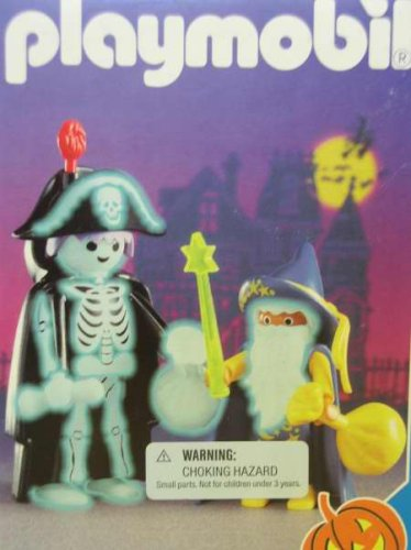 Playmobil 3025 Skeleton and Wizard Halloween Set [Toy]