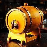 Fûts de chêne blanc for whisky vieillissant, for servir et divertir, affichage et stockage d'accent for la maison de table d'alcools et de spiritueux;Grand cadeau for hommes et femmes - 3L