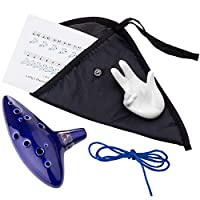 Czemo Legend of Zelda Ocarina 12 hole alto c with Display Stand, Protective Bag, Neck String and Music Sheet