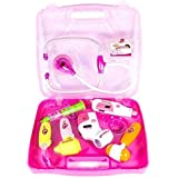 Aaryan Enterprise Kids Plastic Play Toy Doctor Set With Light Sound Effects (Pink)