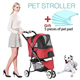 Best Pet Stroller 3 Wheels - Three-wheeled Pet Stroller,Small Medium and large Cat Dog Review