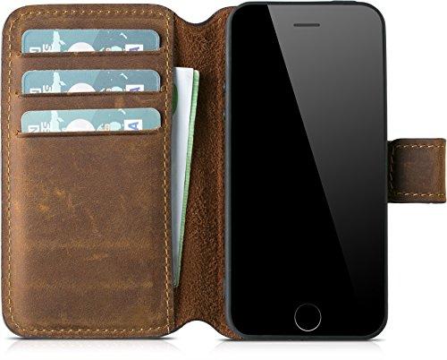 Blumax Apple iPhone 5/5s/SE Ultra-Slim Echtleder Flip-Case