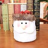 Hffan Weihnachten Geschenktüte Weihnachtsdekoration Weihnachten Süßigkeitenbeutel Dekoration Weihnachtsmann Schneemann Rentier(Weihnachtsmann,22 x 18 cm)