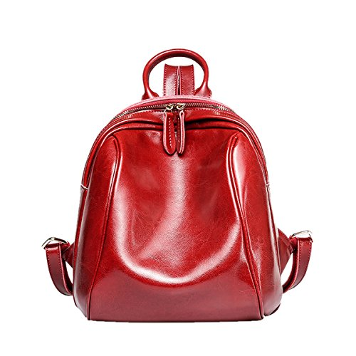 E-Girl Q0870 Damen Leder Handtaschen Satchel Tote Taschen Schultertaschen Weinrot