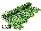 EasyHedging® Roll-Efeuhecke, künstlich, verwandelt unschöne Bereiche & sorgt im Handumdrehen für Sichtschutz, Hellgrün