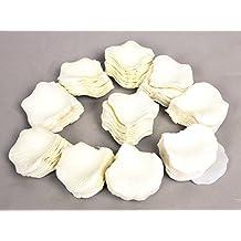 JUNGEN 1000Uds Pétalos de Rosa en Seda de Rosa Natural para Decoración Bodas Fiestas Confeti Tela Artificial Petalos De Rosa (Blanco)