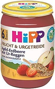 Hipp Bio Frucht & Urgetreide Apfel-Erdbeere mit Ur-Roggen, 6er Pack (6 x 19