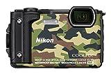 'Nikon vqa073K001-Fotocamera digitale compatta W300da 16MP, Schermo LCD da 3, Video 4K FHD, tecnologia AF) Camouflage-Kit Holiday con zaino impermeabile