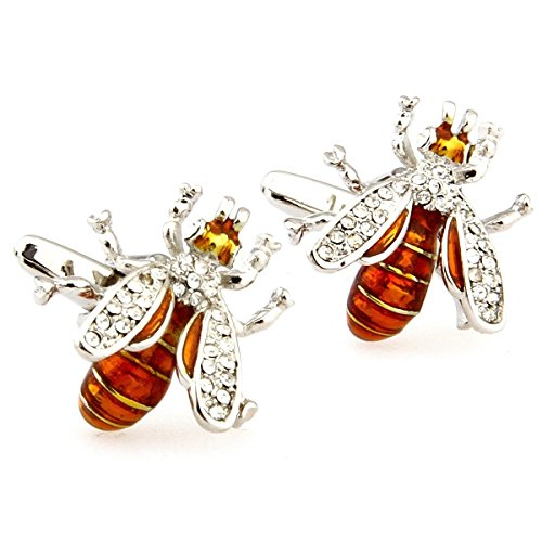 novelty-wasp-hornet-bee-shape-insect-mens-cufflinks