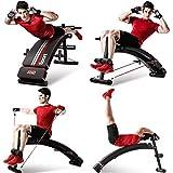XQY Chaise de fitness, banc d'haltère réglable en banc Bancs de musculation Sit asseoir Banc abdominaux d'exercice Crunch Board Noir Gymnase à la maison Utiliser l'équipement de fitness pliable Banc