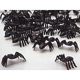 Romote Liroyal Black Spiders Horreur Jouets de Butin de Halloween Sprinkles