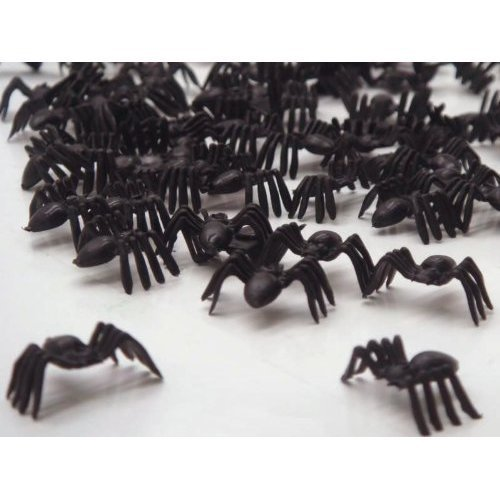 Romote Liroyal Black Spiders Horror Halloween Beute Spielzeug Streusel