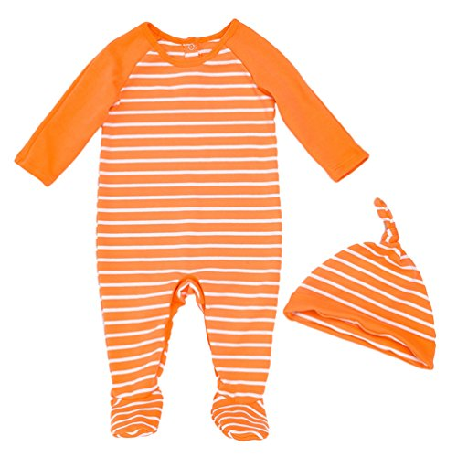 loween Kürbis Kostüm kinderkostüme Baby Mädchen Jungs Strampler Body Outfits Set mit Kappe Orange 59 (Karneval Outfits Für Jungs)