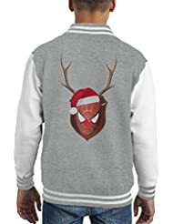 Spiderman Christmas Antler Head Kid's Varsity Jacket