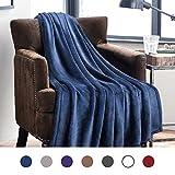 Best Blankets - Flannel Fleece Throw Blankets Navy Blue - Super Review