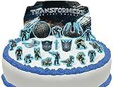 Vorgeschnittene und Essbare Transformers Szene Kuchen Topper (Tortenaufleger, Bedruckte Oblaten, Oblatenaufleger)