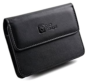DURAGADGET Executive Genuine Leather Carry Case For 5 Inch Tomtom Models GO LIVE 825 Europe, XXL IQ Routes, Start 25 Europe And GO LIVE 1005 Europe