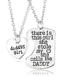 Fancyus There is This Girl She Stole My Heart (Hay una chica que me robó el corazón)–Bonito collar en 2partes –regalo para el día de Acción de Gracias