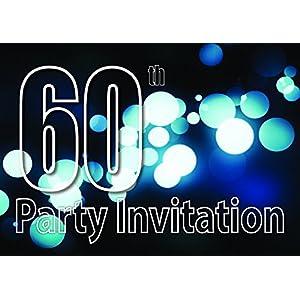60th Theme Birthday Party Einladungen Einladungen Kinder Erwachsene Männer / Frauen