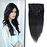 12-18-inches-Remy-Hair-Extensions-Human-Hair-80-100g-8Pieces-Double-Weft-Straight-Real-Hair-Extension-Clips-Human-Hair-for-Women