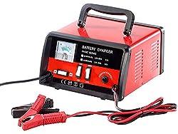 Lescars Autobatterie Ladegerät: Profi-Batterieladegerät für 12/24 Volt, max. 15 A (Kfz Batterieladegerät)