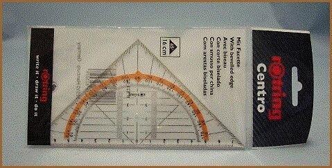 Rotring Centro escuadra de geometría de 16cm
