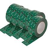 6 Rollen Klebeband 50mm x 25 lfm für Dampfbremse Dampfsperre Dampfsperrfolie Dampfbremsfolie OSB - Systemklebeband grün