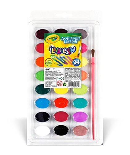 Crayola 53-0524 - I Lavabilissimi 24 Acquerelli