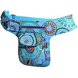 Kunst und Magie - Bolso al hombro de algodón para mujer azul azul