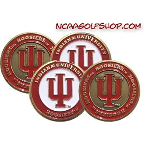 (4) Indiana Hoosiers Golf Ball Markers by Team Golf