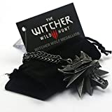 The Witcher 3: Wild Hunt Red Eyes Wolf Head Necklace 3 D Collectors Edition By Maggies Gift