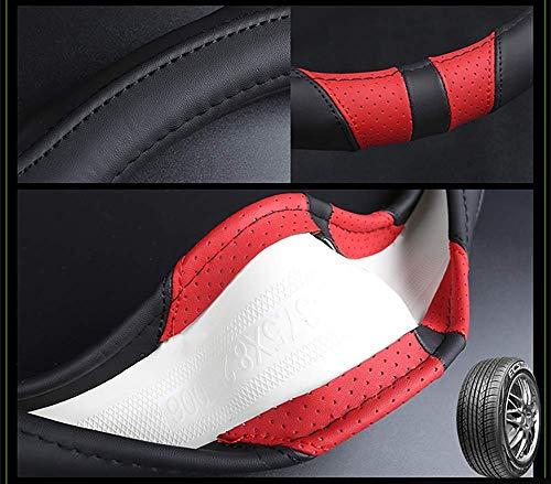 Car Home Coprivolante per Auto in Pelle a Forma di D Applicabile a Kia Sportage Optima K5 per Nissan Qashqai J11 X-Trail T32 2015 2016 2017 2018 38 cm