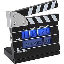 La chaise longue 31-C2-142 - Mini reloj despertador, diseño de claqueta