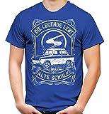 Alte Schule Trabant Männer und Herren T-Shirt | DDR Nostalgie Ossi 600 601 Kübel Trabi Oldtimer (XL, Blau Trabant 600)