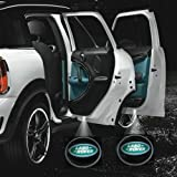 #2: 2 X Black 5th Gen car door Shadow laser projector logo LED light for Land Rover All Series defender discovery 2 3 4 Range Rover sport evoque HSE Freelander LR2 LR3 LR4