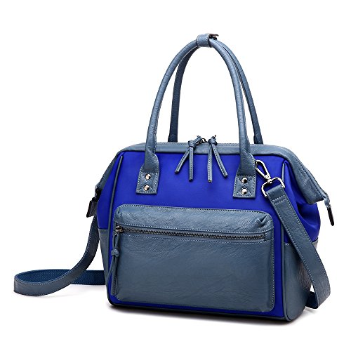 ANNE, Borsa a mano donna nero Purple Blue