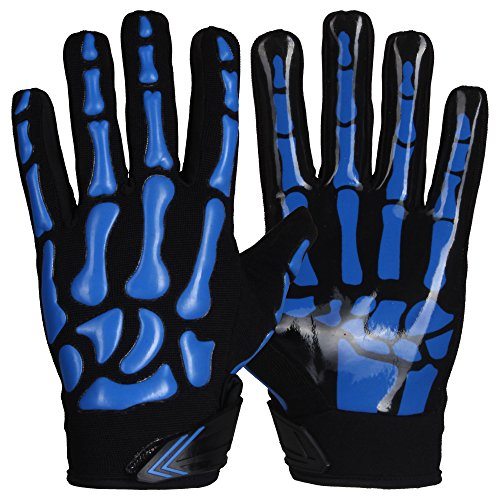 Prostyle Skeleton Lightly Padded American Football RB LB Gloves  royal  M