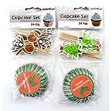 Weihnachten Cupcakeform mit Schild Muffinförmchen Muffin Backform Papier