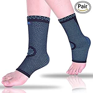Ankle Brace Compression Sleeves for Sprain, Arthritis