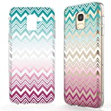 NALIA Coque Protection Compatible avec Samsung Galaxy J6 (2018), Motif Housse Silicone Premium Case Smart-Phone Cover, Ultra-Fine Souple Gel Anti-Choc Bumper Mince Etui, Designs:Colorful Lines