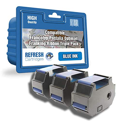 Refresh Cartridges Kompatibel Farbband Ersatz für Francotyp Postalia 58.0034.3071.00 Blau -