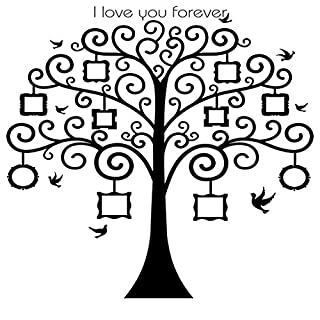 MagiDeal Family Tree Photo Frame Decals Removable Decorative Painting Supplies and Wall Treatments Stickers for Living Room Bedroom